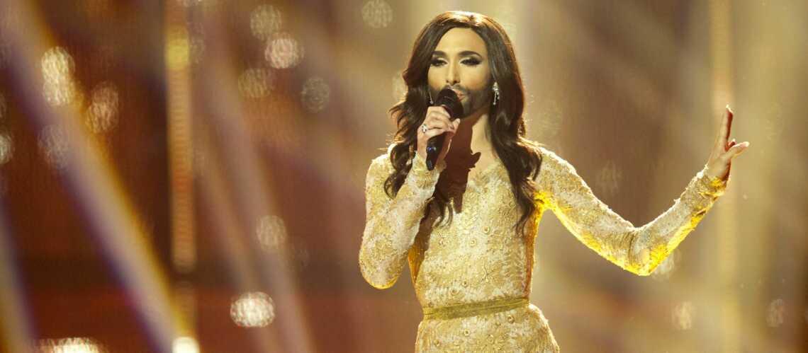 Photos- Conchita Wurst ridiculise les Twin Twin à l'Eurovision