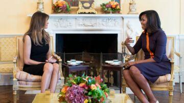 PHOTO – Première rencontre des deux first ladies, Michelle Obama et Mélanie Trump
