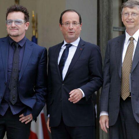 François Hollande ouvre les portes de l'Elysée à Bono et Bill Gates