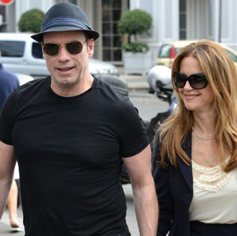 John Travolta se change les idées avec sa femme à Paris