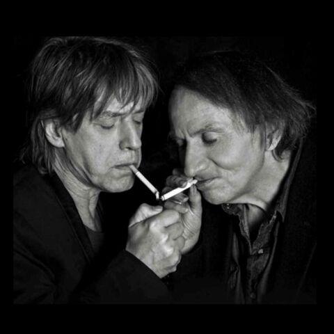 Jean Louis Aubert et Michel Houellebecq sur scène le 13 septembre