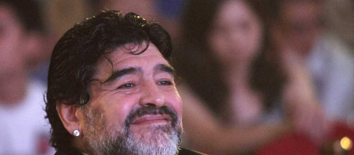 Diego Maradona, les traits tirés