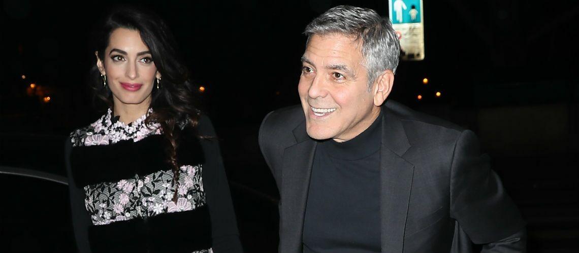 PHOTOS – Dîner en amoureux pour Amal et George Clooney: aucune trace de fatigue sur les visages des nouveaux parents