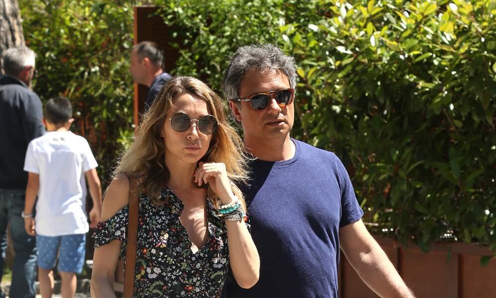 Laura Smet et son compagnon Raphaël à Roland-Garros le 10 juin.