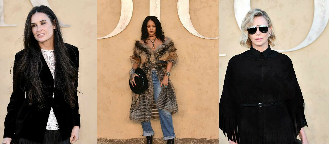 PHOTOS – Charlize Theron, Rihanna, Demi Moore superstars au défilé Dior Croisière 2018