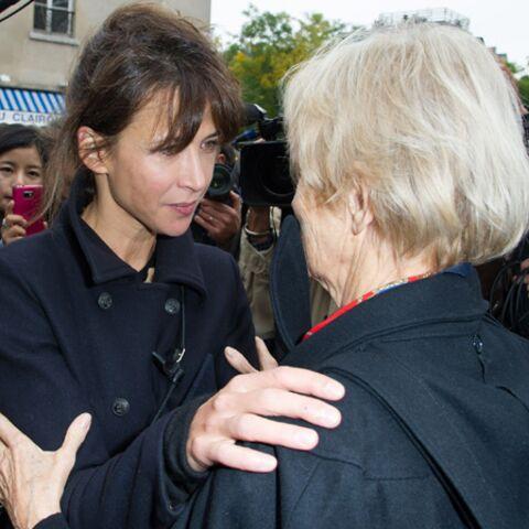 Photos- Sophie Marceau dit adieu à Claude Pinoteau