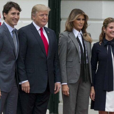 Melania Trump: découvrez pourquoi elle a porté un costume d'homme en présence de Justin Trudeau?