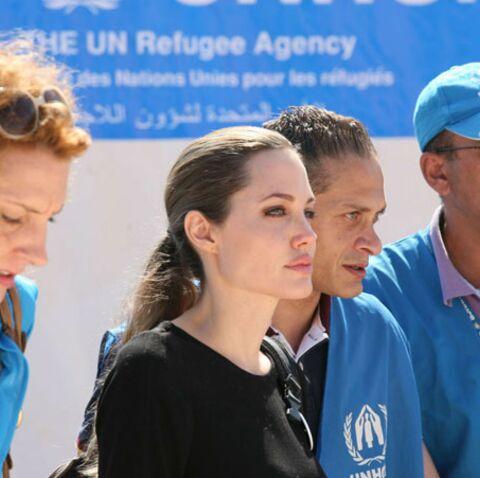 Photos- Angelina Jolie, émue devant les réfugiés syriens