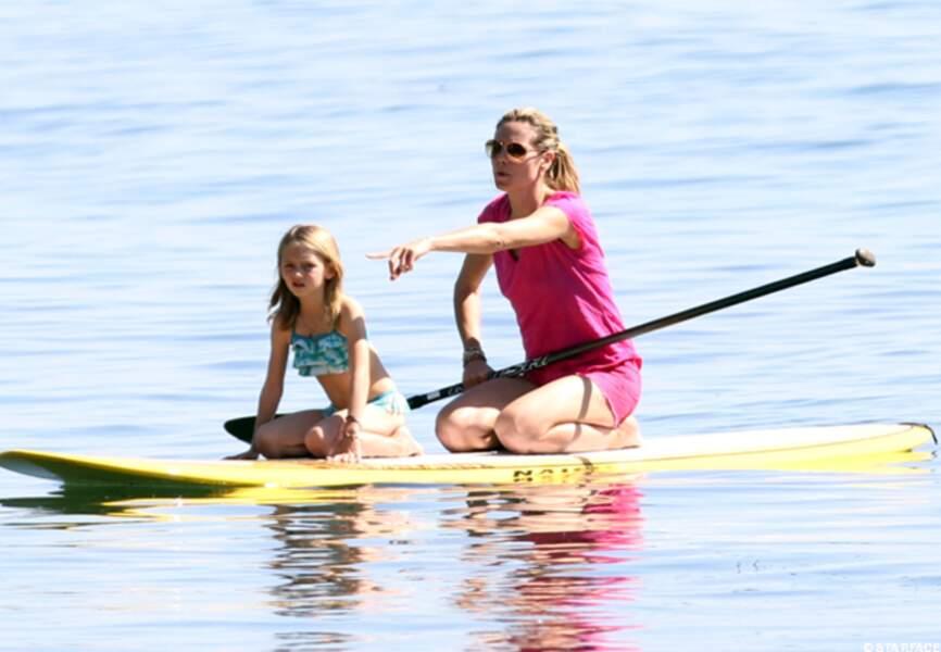 Heidi Klum fait du paddle en famille