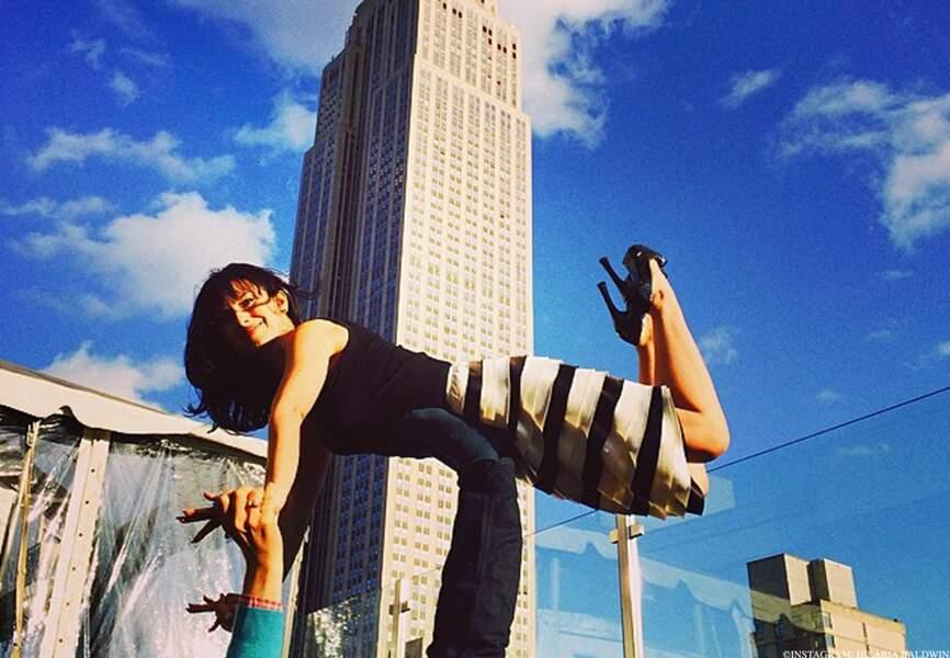 Hilaria fait de la concurrence aux buildings de Manhattan