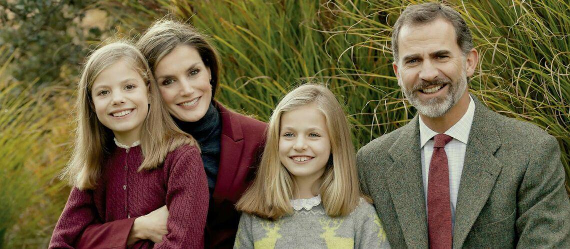 PHOTO – Découvrez la carte de vœux de Letizia, Felipe d'Espagne et de leurs filles
