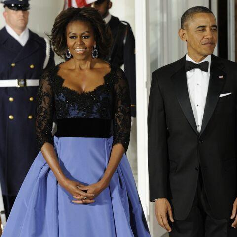Michelle Obama voit la vie en bleu