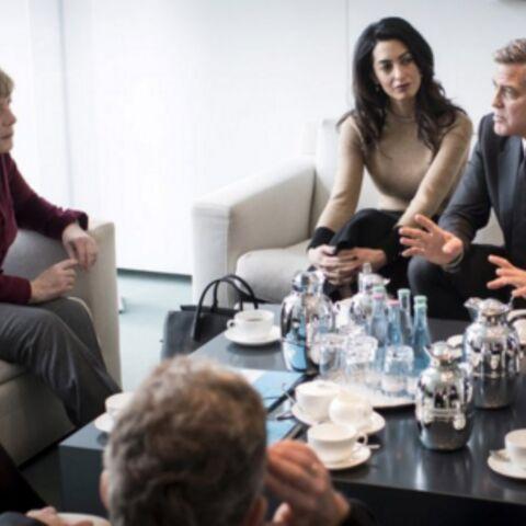 Angela Merkel et le couple Clooney réunis pour les réfugiés
