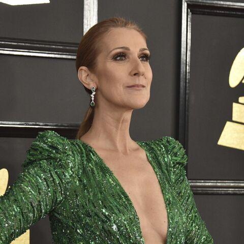 PHOTOS – Céline Dion, diablement sexy, en robe décolletée et fendue aux Grammys