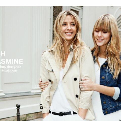 Sarah Lavoine et Yasmine, mère et fille pour Comptoir des Cotonniers