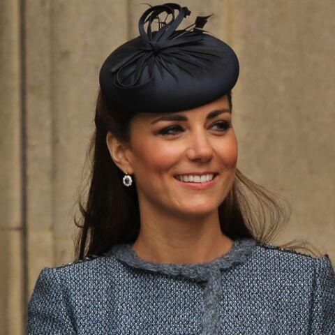 Kate Middleton voit la vie en bleu recyclé