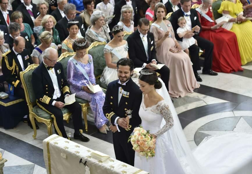 Leur mariage a été célébré en la chapelle royale du palais, à Stockholm