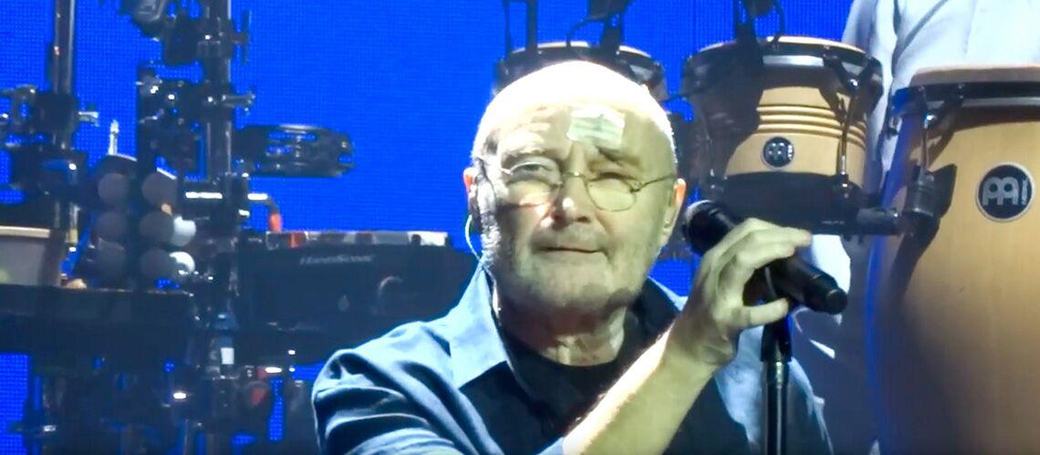 PHOTOS – Phil Collins de retour sur scène après sa grave chute