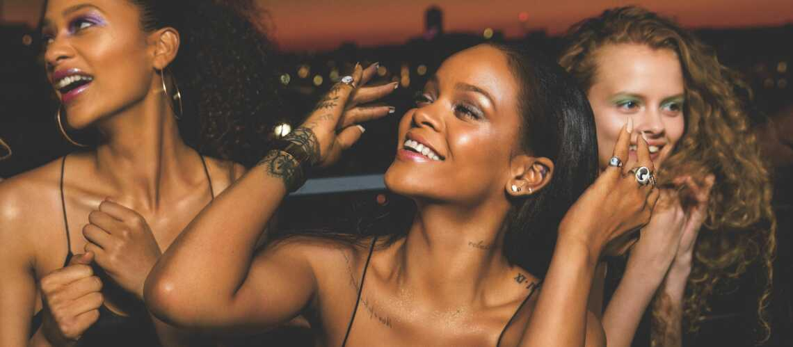 PHOTOS – Rihanna : pourquoi Galaxy, sa collec­tion de maquillage pour Noël va carton­ner ?