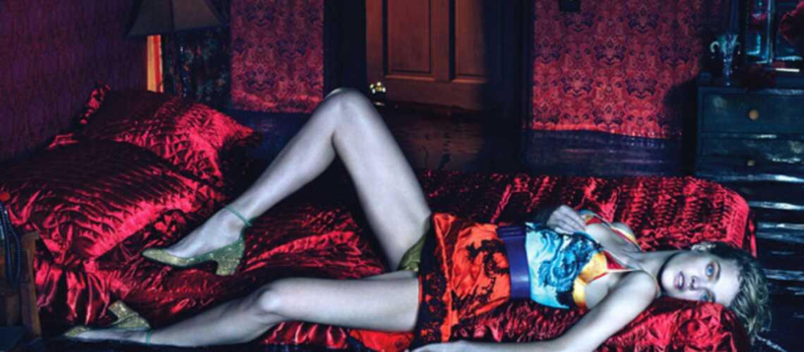 Natalia Vodianova sur le radeau de la fashionista