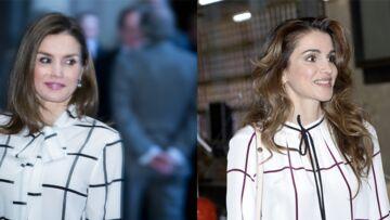 PHOTOS – Letizia d'Espagne et Rania de Jordanie: qui porte le mieux la jupe en cuir et la blouse à carreaux?