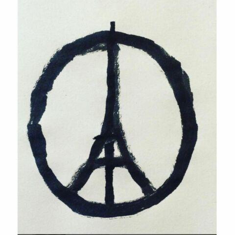 Qui est l'auteur du dessin Peace for Paris?
