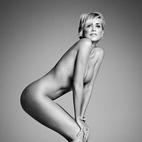 Sharon Stone en tenue d'Eve pour Harper's Bazaar