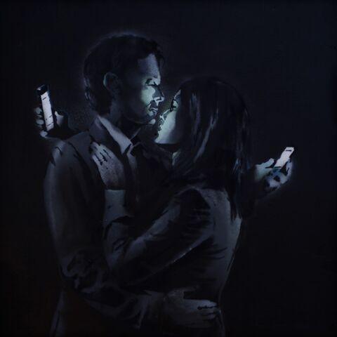 Banksy confirme être l'auteur de Mobile Lovers