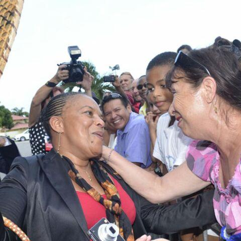 Christiane Taubira retrouve le sourire en Guyane