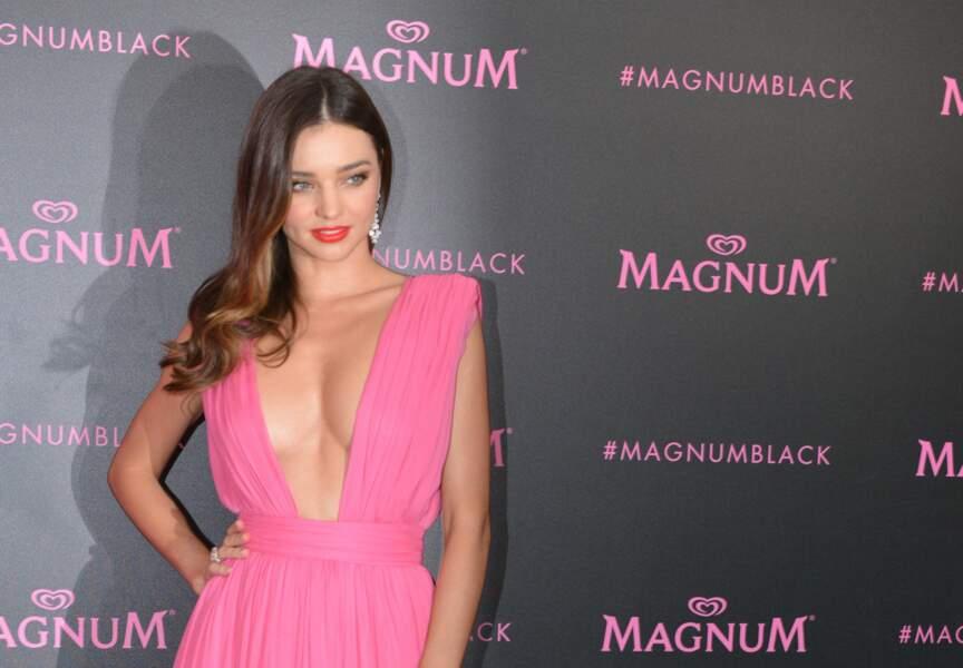 Miranda Kerr à la soirée Magnum Pink & Black