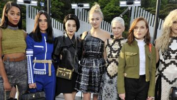 PHOTOS – Isabelle Huppert, Marina Foïs, Michelle Williams… toutes au défilé Croisière Louis Vuitton 2018