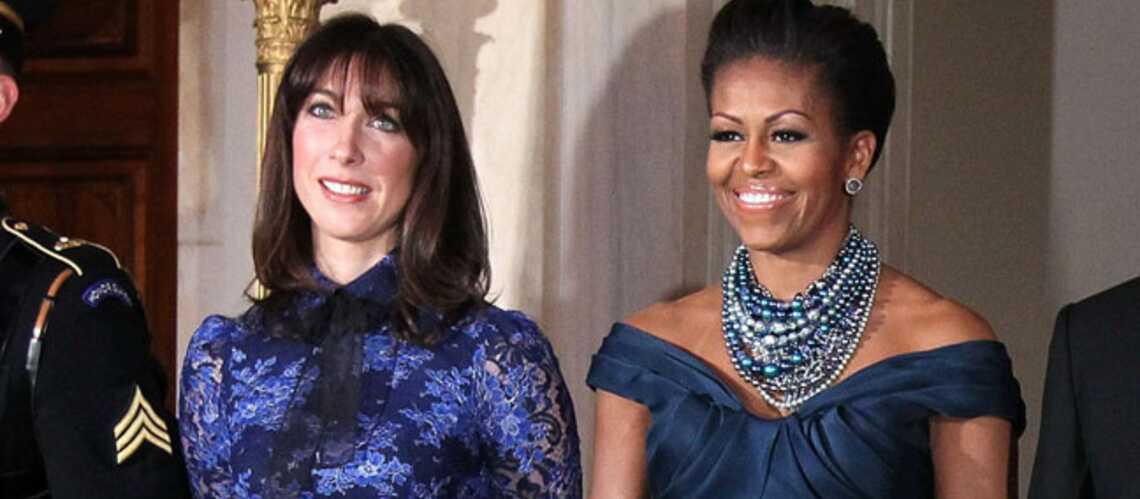 Michelle Obama et Samantha Cameron ont le blue