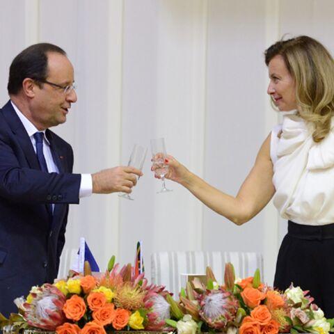 Valérie Trierweiler et François Hollande, complices à Pretoria