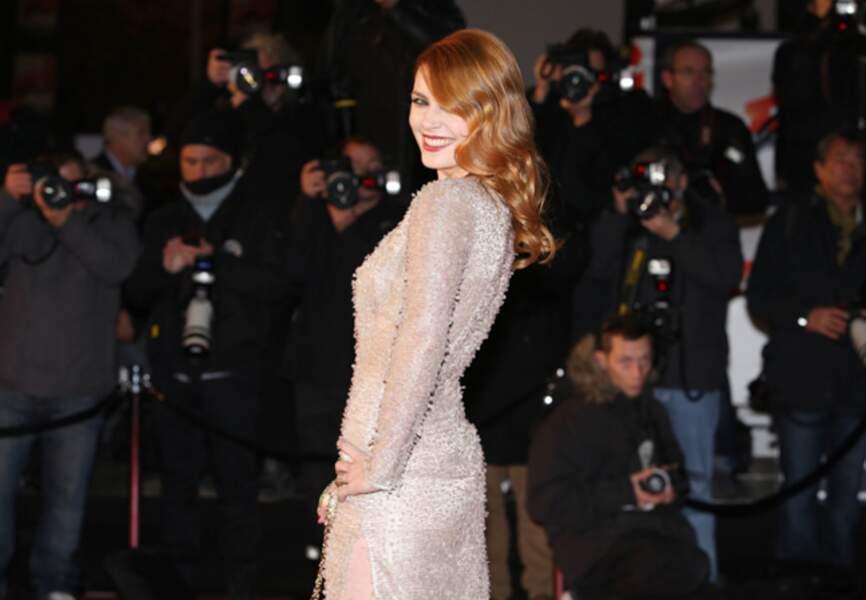 Total-look glamour devant les photographes