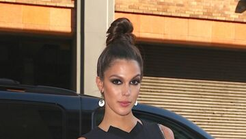 PHOTOS – Iris Mittenaere porte le chignon haut à la Fashion Week de New York
