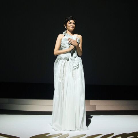 Photos – Audrey Tautou choisit une robe Yiqing Yin pour Cannes