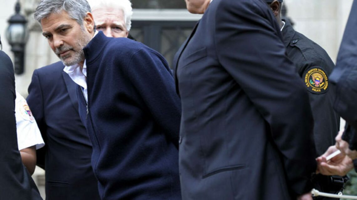 George Clooney arrêté en plein Washington
