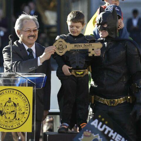 Un mini Batman enthousiasme les Etats-Unis et Barack Obama