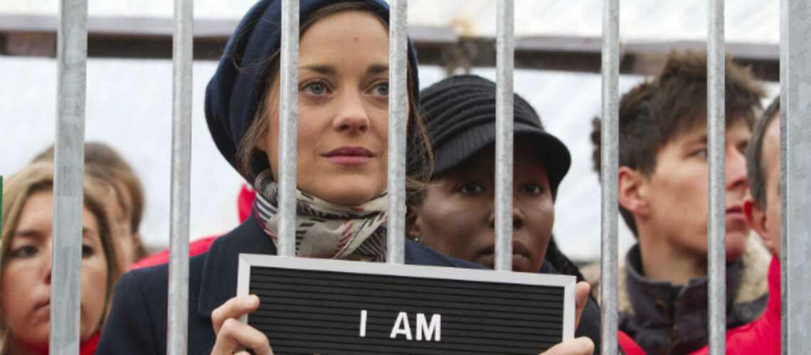 Photos- Marion Cotillard en cage pour Greenpeace