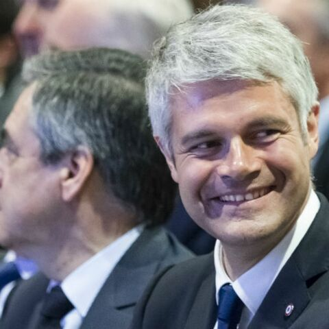 Laurent Wauquiez pose avec son épouse: tout Twitter se moque de lui