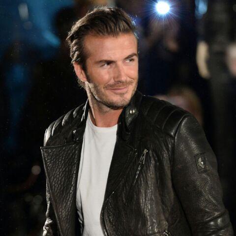 David Beckham en mode biker