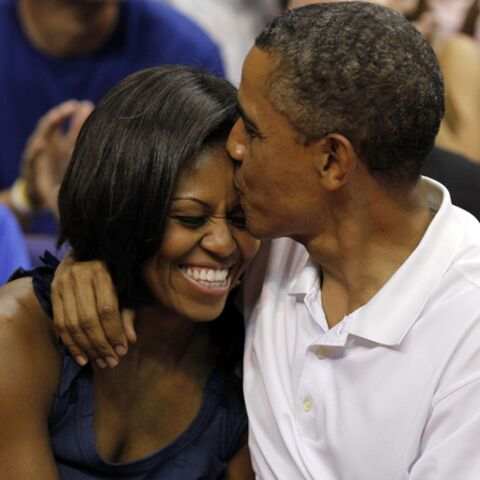 Michelle et Barack Obama, un bisou pour l'Histoire