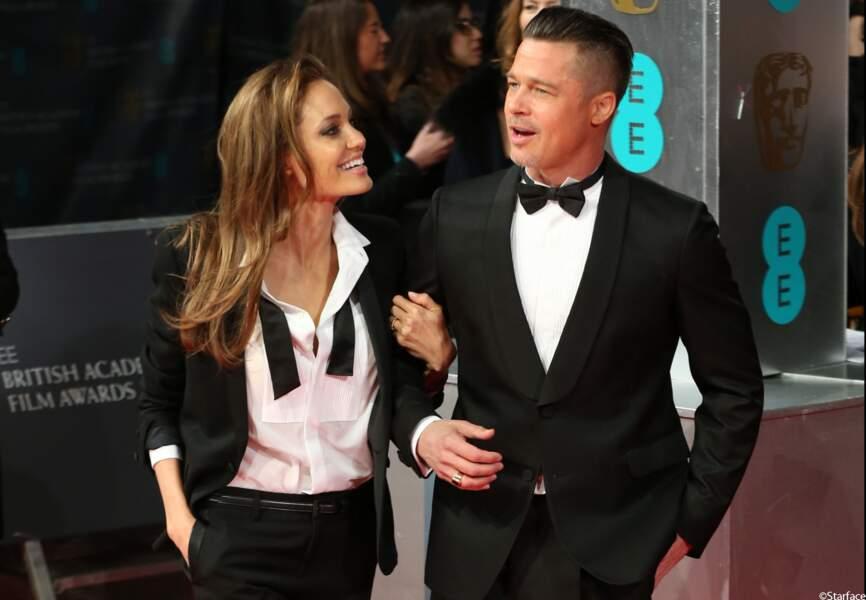 Brad Pitt et Angelina Jolie, heureux et assortis