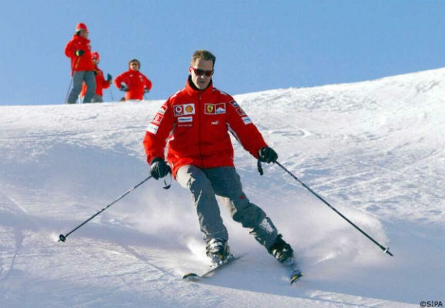 En décembre dernier, il connait un dramatique accident de ski à Méribel