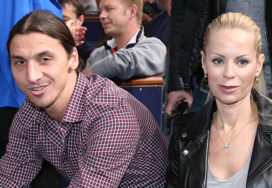 Zlatan Ibrahimovic et sa femme Helena Seger (PSG)
