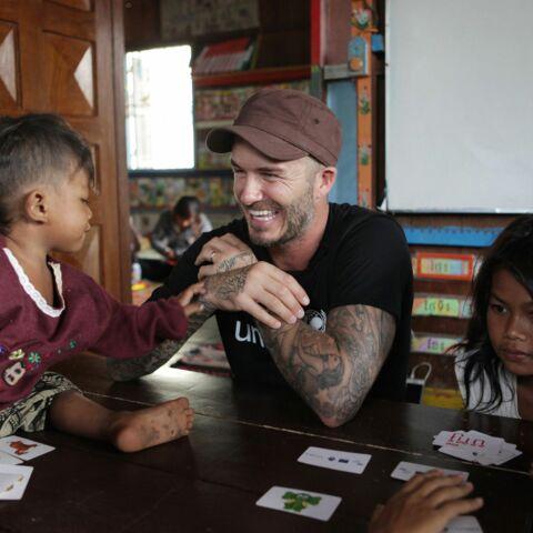 David Beckham au Cambodge avec l'UNICEF