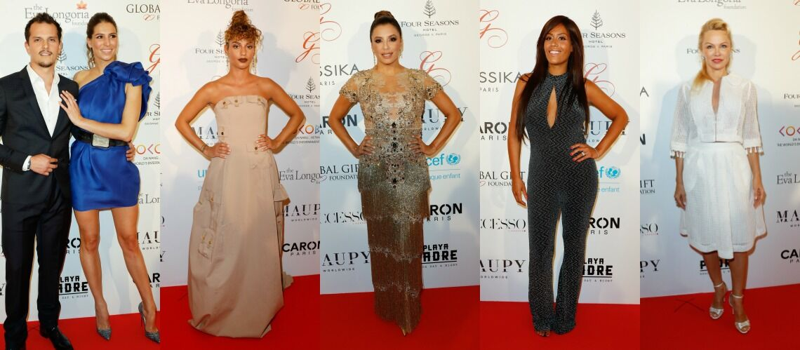 PHOTOS – Eva Longoria, Pamela Anderson, Amel Bent… Les stars sur le tapis rouge du Global Gift Gala