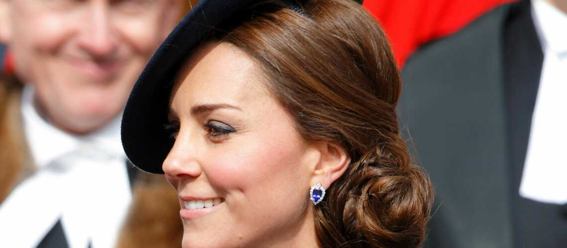 coiffure de star les chignons de princesse kate gala. Black Bedroom Furniture Sets. Home Design Ideas