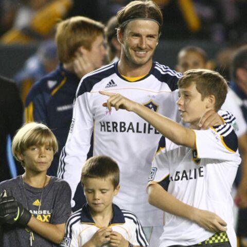David Beckham célèbre le foot en famille