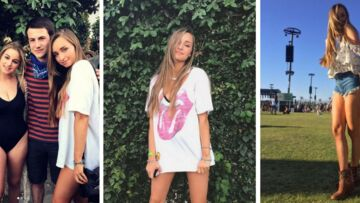PHOTOS – Emma Smet, la fille d'Estelle Lefé­bure, ose le mini à Coachella